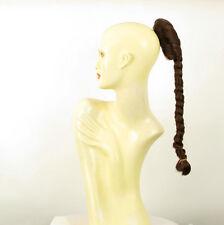 Hairpiece ponytail plait 19.69 long dark brown copper 4/31