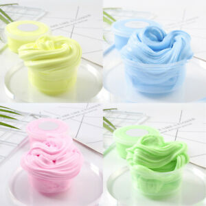 Children Kids Fluffy Floam Slime Putty No Scented Borax Stress Relief Toys #H10