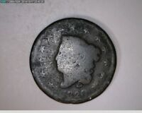 1820 Coronet Head Large Cent 1c one cent penny ( # 43s87 M6 )