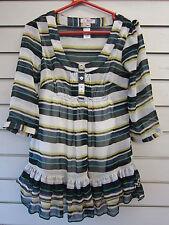 Striped Scoop Neck 3/4 Sleeve Other Women's Tops