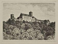 Max Brückner ? - Ansicht der Wartburg - Radierung - o. J.