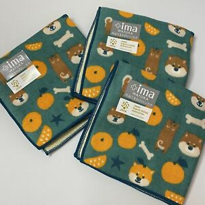 Shiba Inu design hand towel 3piece set Made in Japan