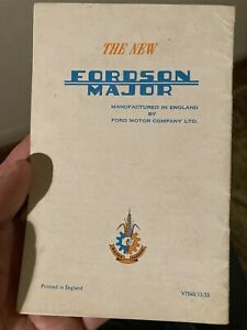 """Rare Ford New Fordson Major """"Dirty Work"""" tractor brochure leaflet"""