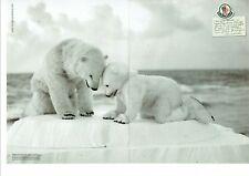 Publicité Advertising 019  2012   vetements ski Moncler (2pages) Ours blanc