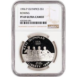 1996-P US Atlanta Olympic - Rowing Commem Proof Silver Dollar - NGC PF69 UCAM