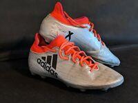 Adidas x 16.3 Fg Shoes Football Soccer UK 9 Grey Mens football boots