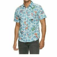 Marvel Avengers Superhero Hawaiian Tropical Button Front Shirt Mens Small  BxM