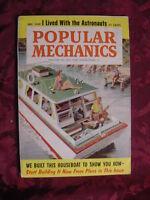 POPULAR MECHANICS Magazine December 1959 HOUSEBOAT Mercury 7 Astronauts