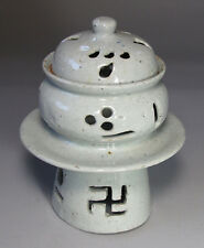 An Unusual Shaped Korean White Glazed Incense Burner-19th C.