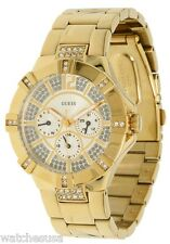 GUESS Women's Dazzling Sporty Multi-function Gold-Tone Watch U13576L1