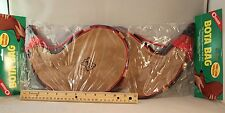 2 PK-2 LITER BOTA BAG FINE GOATSKIN LEATHER POLY LINED BRAIDED STRAP FROM SPAIN