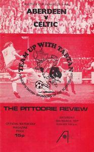 Aberdeen Home Programmes Season 1978-1979