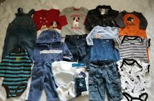 HUGE 15+ pc ~ Baby Boy Lot of Clothes Baby Gap, Gymboree 0-3-6 Mos ~ Fall/Winter
