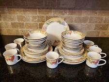 Gibson Everyday China Fruit Grove Dinnerware 38 pieces serving for 7 + few extra