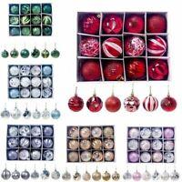 Christmas Baubles Xmas Tree Ornament Hanging Glitter Ball Photo Festive Decor