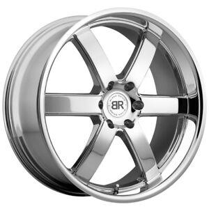 """Black Rhino Pondora 20x8.5 6x139.7 (6x5.5"""") +30mm Chrome Wheel Rim"""