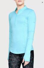 $80 Spectra 1/2 Zip ColdGear Running Top Men's Size XL Light Blue 1316288 NWT