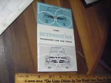 NOS  ORIGINAL FORD    1956 Ford Car and Truck Accessories  Brochure    RARE