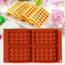 Silicone Nestle Waffles Mold Cake Chocolate Pan Muffin Breakfast Baking Mould