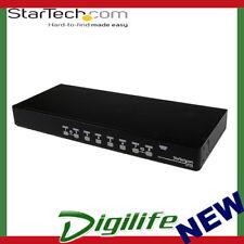 STARTECH 8 Port 1U Rackmount USB PS/2 KVM Switch with OSD SV831DUSB