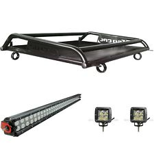 "Roof Rack System w/ 34"" LED Light Bar + 2 Pods 2 Seat Polaris RZR XP Turbo 2018"