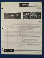 ALTEC 9477B AMPLIFIER OPERATING MANUAL WITH SCHEMATIC ORIGINAL v2