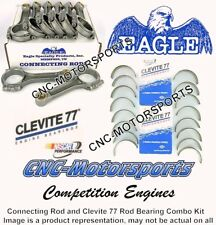 BB Chevy 454 Eagle Rods, I Beam, 6.135 Length, with Clevite Rod Bearings