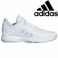 $139 Adidas Barricade All Court Tennis Shoes White Size 42 Womens 9.5 Mens 8.5