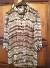 NEW! Banana Republic fall blouse, XS, 3/4 sleeve, striped, brown, career casual