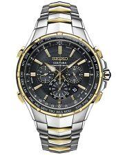Seiko Coutura Radio Sync Solar Chronograph Two Tone Steel Men's Watch (SSG010)