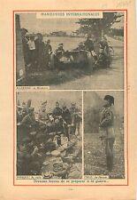Military maneuvers Manoeuvres Militaires Benito Mussolini  1935 ILLUSTRATION