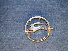 Round Chevy Impala Emblem Silver Metal Rare Part No: 4877314