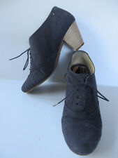MARK ADAM ° coole Ankle-Boots Gr. 38 blau Leder Damen Schuhe Hochfront-Pumps TOP