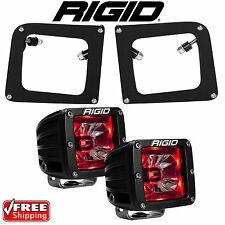 Rigid Radiance LED Fog Light Kit Red Backlight for 14 15 GMC Sierra 1500 20202