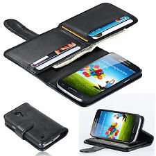 Luxury 7 Card Holder Flip Wallet Leather Case Cover For Samsung Galaxy S 4 Mini