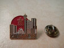 Hard To Find Calgary 88 Olympic Winter Games City Scape Lapel Pin~ Artiss Regina