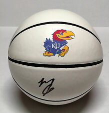Kansas MARIO CHALMERS Signed Autographed Basketball COA PROOF! 2008 NAT'L CHAMPS