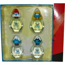 Smurfs 3D Variety 4 Piece Set Blue & Style With Papa Smurf, Smurfette, Vanity Sm