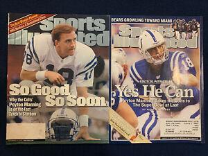 Sports Illustrated Peyton Manning Lot Of 2 Nov 1999, Jan 2007 Indianapolis Colts
