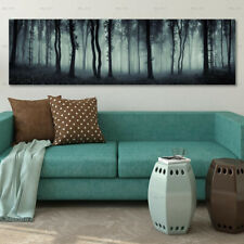 Dark Forest Landscape Canvas Painting Poster Print Wall Art Picture Home Decor