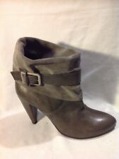 Miss Sixty Brown Ankle Leather Boots Size 41