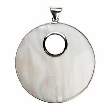1PC 61*80mm Silver Color Big White Drops Natural Shell Pendants For Necklace