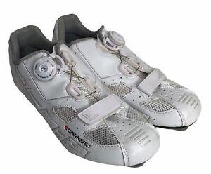 Louis Garneau Women's LS-100 Size 9 Road Bike Clipless Cycling Shoe White EUC