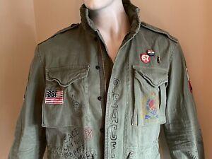 POLO Ralph Lauren $498 TWILL Graphic Field Jacket MEDIUM nwtgs