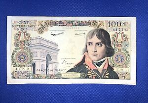 Billet 100 Nouveaux Francs Bonaparte. 6-12-1962, Alphabet K.205. French Banknote