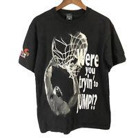 Vtg Beer Basketball Talk The Talk Dunk Jump Black T Shirt Budweiser Promo Sz M/L