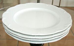 ROSENTHAL Classic Rose Monbijou weiß - 4 Stck. Speiseteller - ca. 26 cm