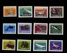 Canada Mammal Defins Sc1170-1180 Wolf, Grizzly, Lynx, Musk Ox, Beluga Whale Mnh