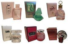 Ladies Womens Miniature Mini Perfume Gift Travel x6 Jimmy Choo Burberry Bvlgari