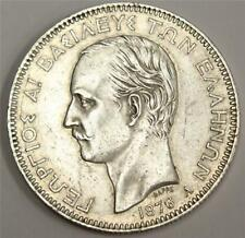 1876 A Greece 5 Drachmai silver coin KM46 EF45